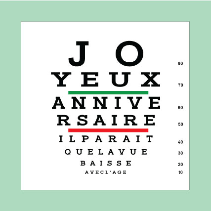 Carte postale originale humoristique opticien