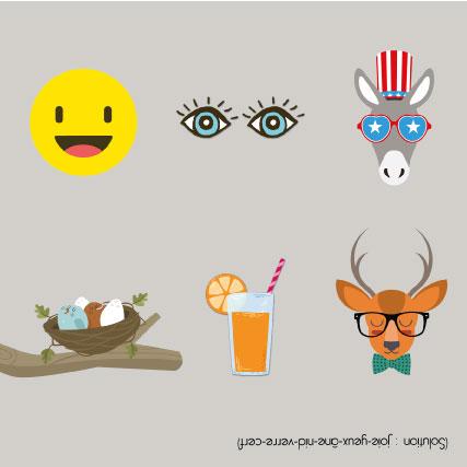 miamots-carte postale-rebus-anniversaire-enfant-gris