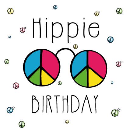 miamots-carte postale-anniversaire-hippie-birthday