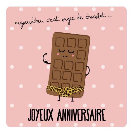 miamots-carte postale-chocolat-anniversaire
