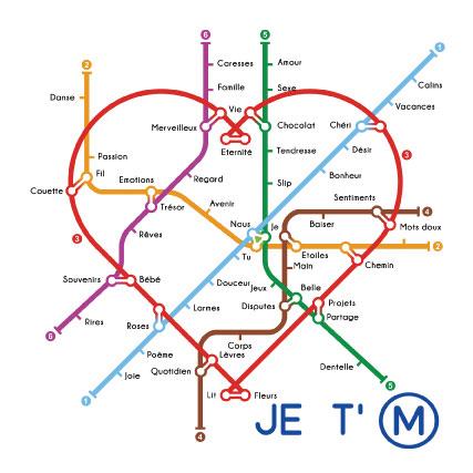 miamots-carte postale-je-t'aime-metro-amour