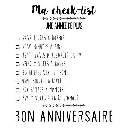 chek list anniversaire miamots