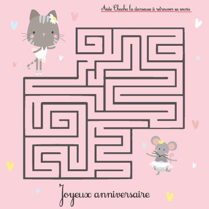 labyrinthe enfant anniversaire